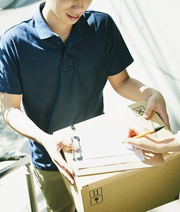 配送作業から納品